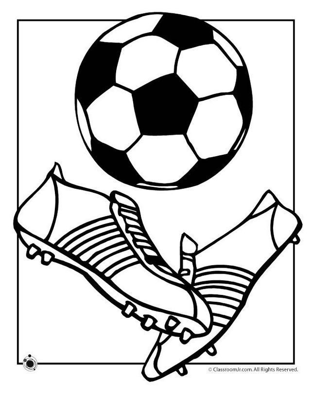 Soccer Ball And Shoes Coloring And Drawing Page Sports Coloring Pages Soccer Ball Soccer Drawing