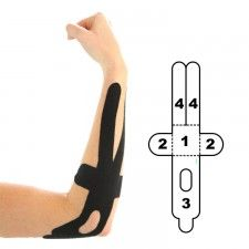 The Kindmax Precut Elbow Support is a kinesiology tape application designed to relieve elbow pain and inflammation from injuries, degenerative conditions or overuse. It can be applied to the outer, inner or back of the elbow, making it effective for conditions such as tennis elbow, golfers elbow, bursitis, tendinitis. Only available at: http://www.theratape.com/kindmax-precut-elbow-support.html