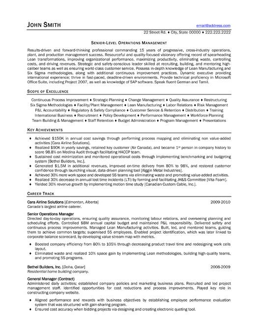 8 best Best Consultant Resume Templates \ Samples images on - operating officer sample resume