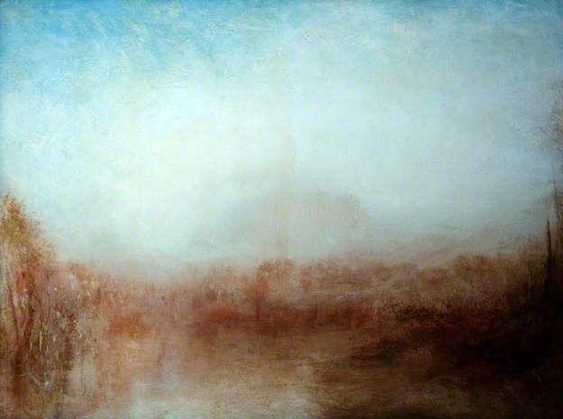 Landscape / Joseph Mallord William Turner / c. 1840-45 / oil on canvas / beautiful diffused light...