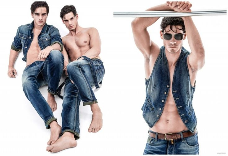 Armani Jeans Goes Blue + Embraces Prints for Spring 2015 Mens Collection