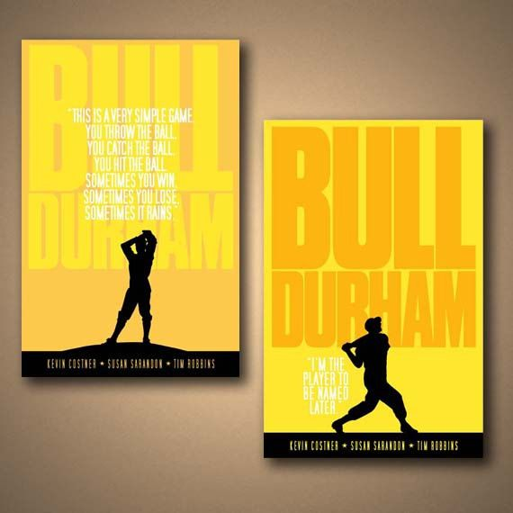 BULL DURHAM Movie Quote Poster - COMBO Pack