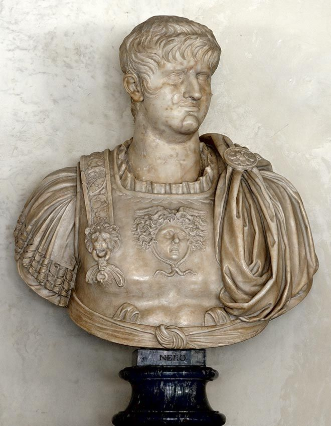 a biography of nero the roman emperor Nero (nero claudius caesar) (nēr´ō), ad 37–ad 68, roman emperor (ad 54–ad 68) he was originally named lucius domitius ahenobarbus and was the son of cnaeus domitius ahenobarbus (consul in ad 32) and of agrippina the younger [1], who was the great-granddaughter of augustus.