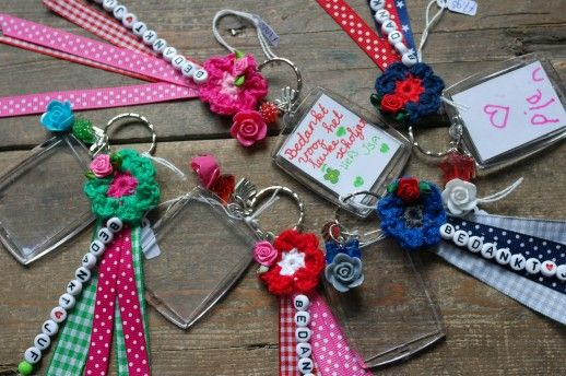 Teachers gift key chain Bedankt juf sleutelhanger Kleinedraakjes.nl