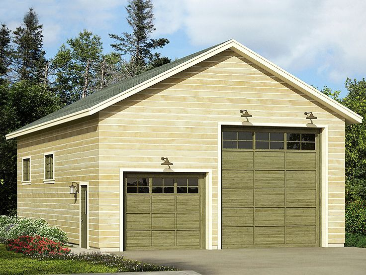 50 best tandem garage plans images on pinterest car for 2 bay garage plans