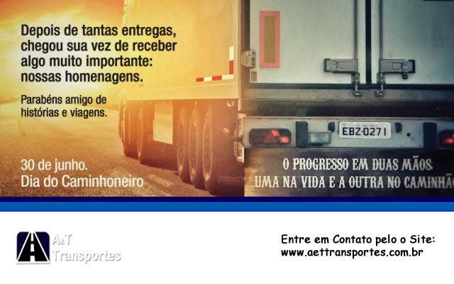 A A&T Transportes parabeniza aos profissionais que transportam o desenvolvimento pelas estradas do nosso país. 30 de Junho dia do Caminhoneiro! http://aettransportes.com.br/ #QuemRodaoBrasilPorNós #parabénsCaminhoneiro #aettransportes #TransportedeCarga #TransportadoradeCarga