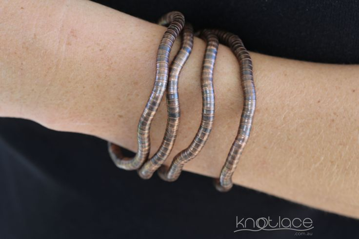 Knotlace bendy accessory 5mm width in copper - www.knotlace.com.au #style #fashion #accessory #jewellery
