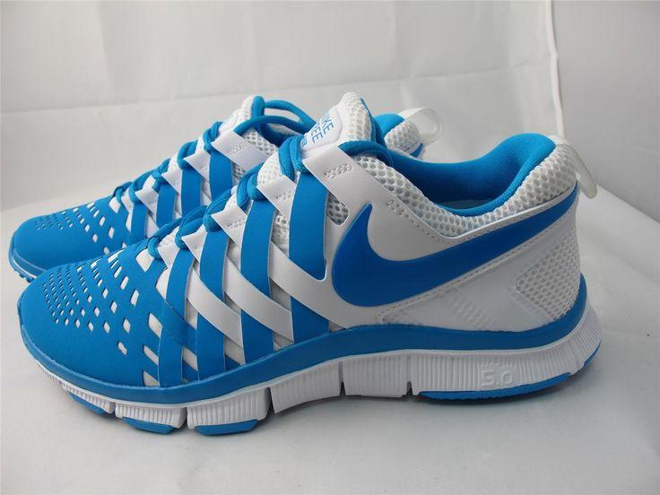 Nike Free Trainer 5.0 Tapis Bleu Marine Et Blanc