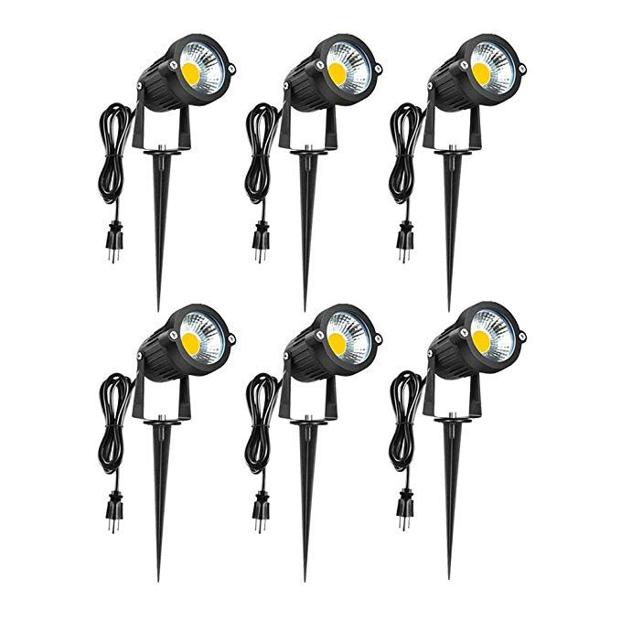 Led Landscape Lights 120v 3000k Warm White 5w Spot Light Outdoor Pathway Light Ip65 Waterproof Cob Super Bright Light For Driveway Yard Lawn Patio Garde Led Landscape Lighting Landscape Lighting