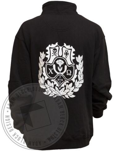 Chi Omega Crest Half-Zip