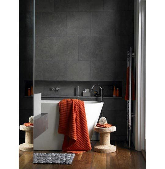 Dark Grey tiles. Sexy and soothing.