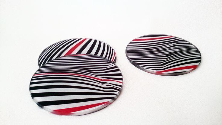 üveg poháralátét/glass Coasters #design #art #illusion #home #individual #coasters www.dekorozmar.hu