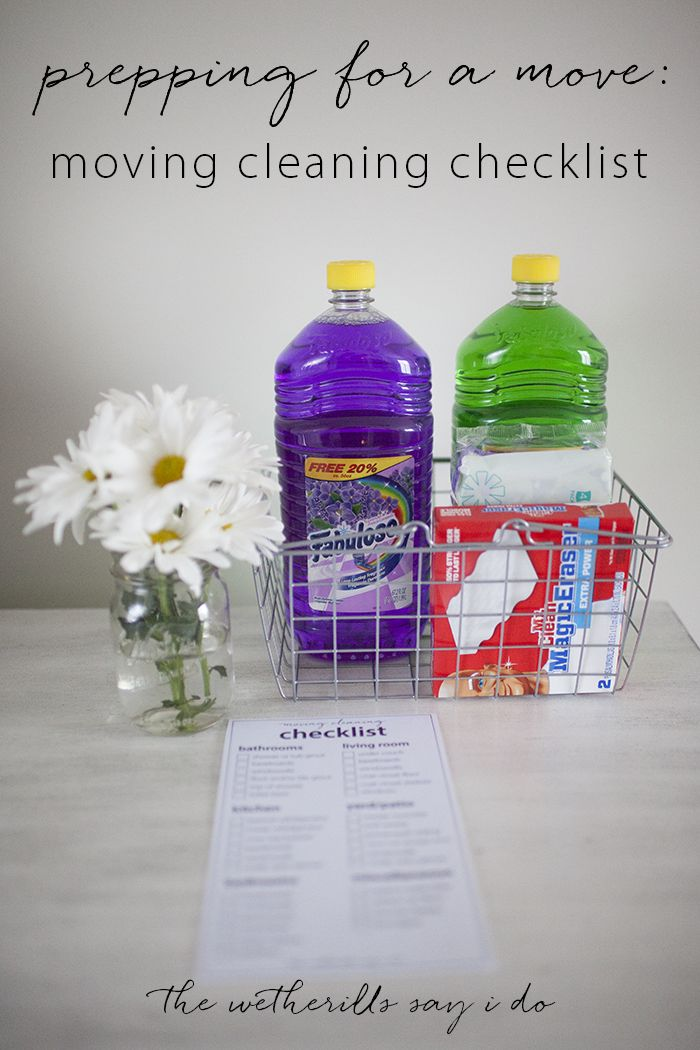Prep for a move with this printable moving cleaning checklist and a bottle of Fabuloso® Multi-Purpose cleaner! #MiFabuloso #ad