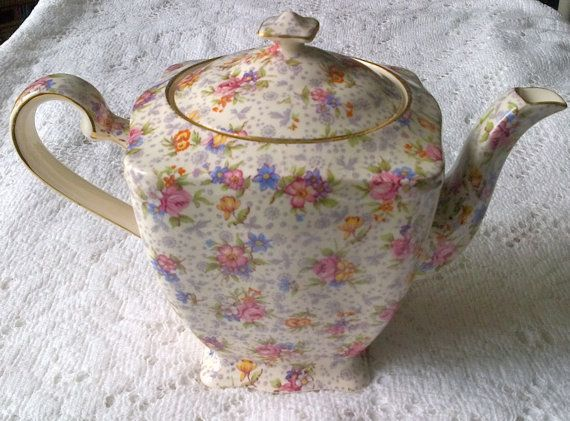 Royal Winton Grimwades Chintz Ascot 3 Cup Teapot - Eleanor - Made in England
