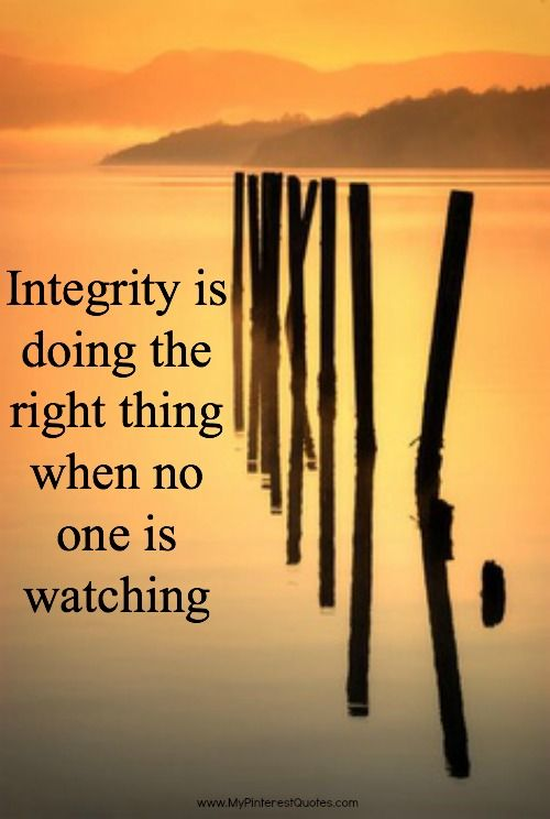 This is a great quote! Integrity Doing the right thing when no one is watching #okgethealthy #quote