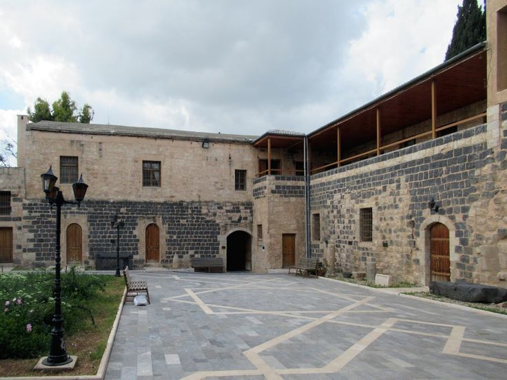 The Dar As-Saraya Museum in Irbid, 92 kilometers north of Amman, Jordan, is housed in a former caravanserai dating from 1886.