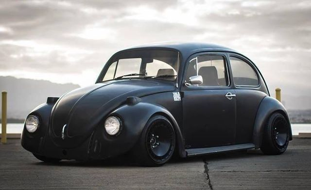 matte black bug vw classics pinterest matte black and black. Black Bedroom Furniture Sets. Home Design Ideas