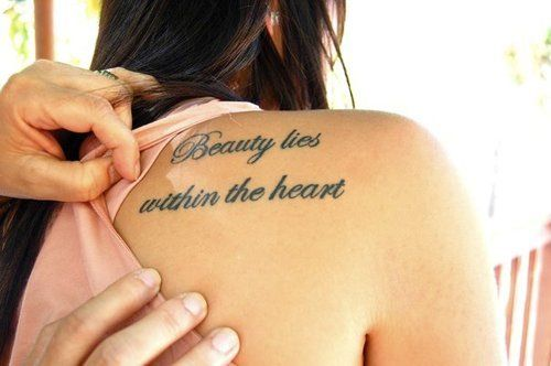 love it. Beauty lies within the heart