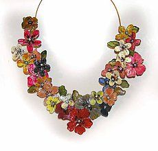 Iné šperky - XXXXL flowers náhrdelník - 5929938_