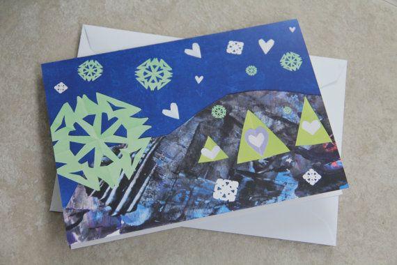 Christmas Card  Winter Wonderland by LoveRockResidue on Etsy, $4.00
