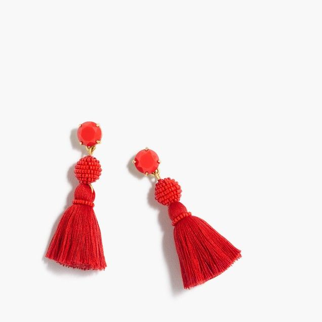 Tassel ball earrings :   | J.Crew