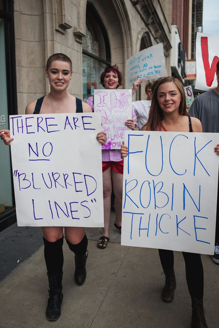 "Slut Walk Chicago 2013, There are no ""blurred lines"" and you WILL NOT ""domesticate me""."