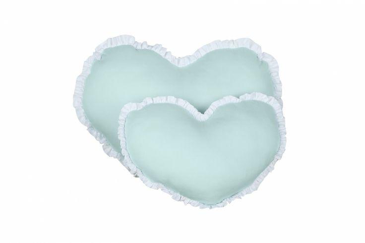 Poduszki serduszka miętowe - Poduszki - Dodatki - Oświetlenie Dekoracje - caramella