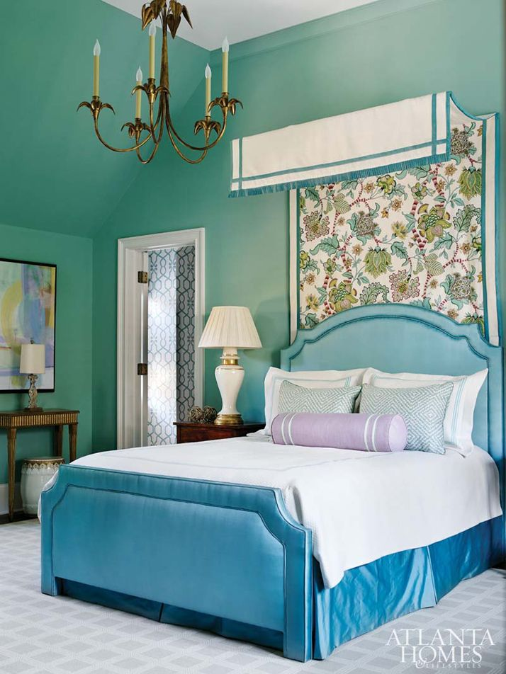 Turquoise Bedroom By Huff Dewberry