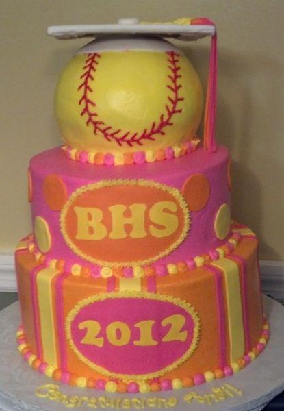softball graduation cakes | Graduation Softball Cake - Cake Decorating Community - Cakes We Bake