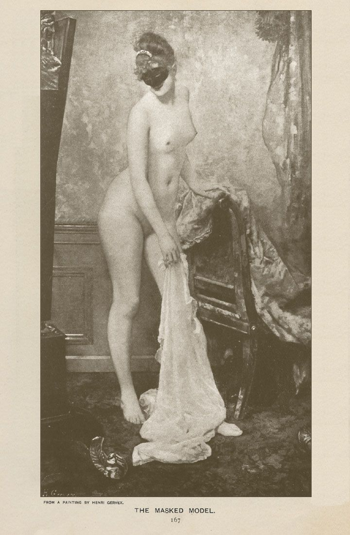 msbehavoyeur:    Nude model in a mask ~ Henri Gervex (1852-1929) via