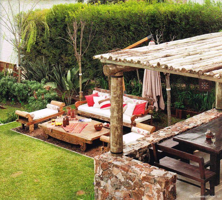 Living con aires de Oriente! Que buen espacio creado para disfrutar!!!!
