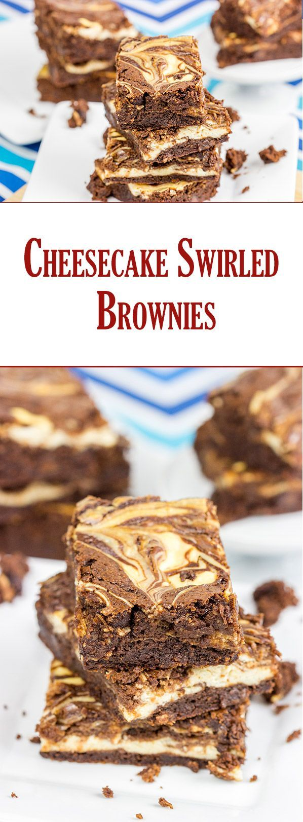 Brownies or cheesecake? Why pick one when you can have Cheesecake Swirled Brownies?