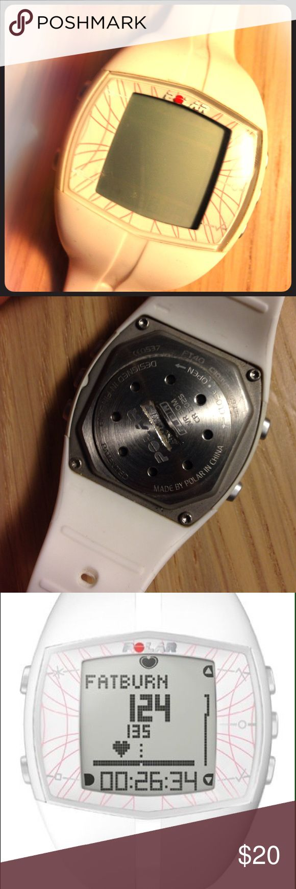 Polar FT40 Fitness Watch(chest strap not included) Polar FT40 Fitness Watch (chest strap not included) Needs new battery. Polar Other