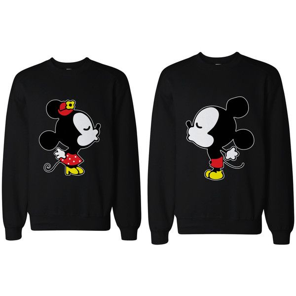 Disney Couple Matching Shirts Cute Couples Kissing You Mickey and... ($46) ❤ liked on Polyvore featuring tops, hoodies, sweatshirts, couples, shirts, disney, disney sweatshirts, disney tops, shirt top and disney shirts