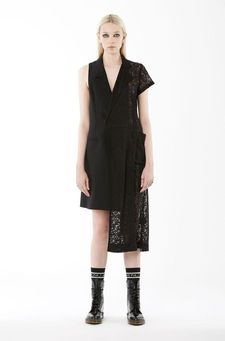 Now 10 little black dresses for - Shop The Nom D Cotton Lace Collision Dress In Black On Well Made Clothes Now