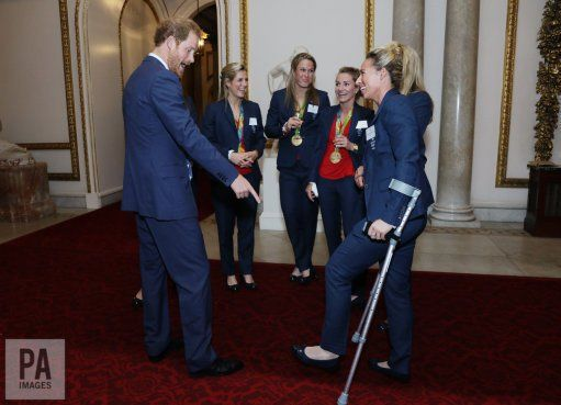 """PA Royal Reporters on Twitter: """"Prince Harry at the royal celebration for @TeamGB and @ParalympicsGB"""