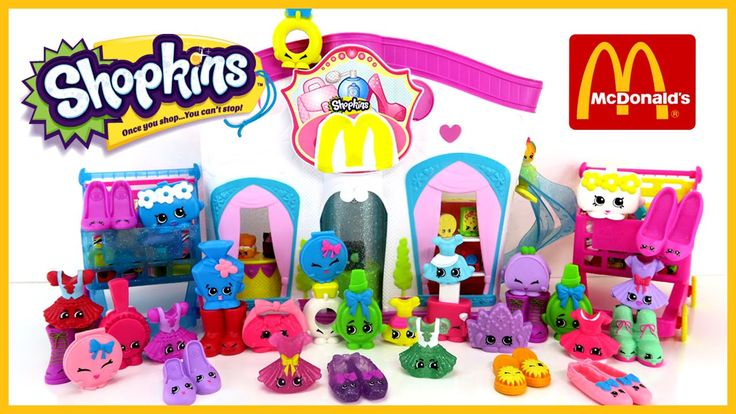 The Toy Bunker presents the 2015 Shopkins McDonalds Happy Meal Kids Toys! We looked all over for these new Shopkins and we found them! We actually got 7 complete sets of 1-16. We are trying to get all 50 of the McDonalds Shopkins so that we have ALL of them!  In this set we got...  Bella La Ball Judy Jumper Suzie School Skirt Tutusweet Carrie Clutch Rebecca Bag Connie Coin Bag Curly Kelsy Compact Mia Mirror Rhonda Ring Tiara Penelope Perfume Polly Polish Teenie Promy Kitty Flats Jennifer…