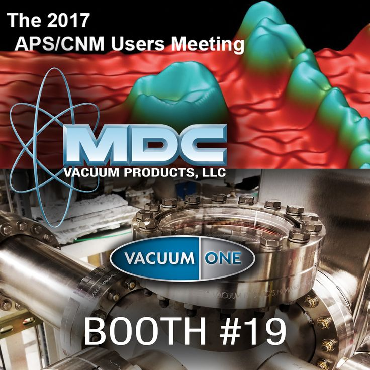 MDC is with our sales representative, Vacuum One, this week at the 2017 APS/CNM Users Meeting. Stop by booth #19 to discuss your vacuum technology needs. #MDCVacuum #vacuumtech #vacuumchamber #synchrotron #Argonne #APS #CNM #nanotechnology #lightsource #photon #particleaccelerator #radiationfacility #energy #DOE #vacuumtechnology #vacuumscience #highvacuum #ultrahighvacuum #UHV #physics #physicsresearch