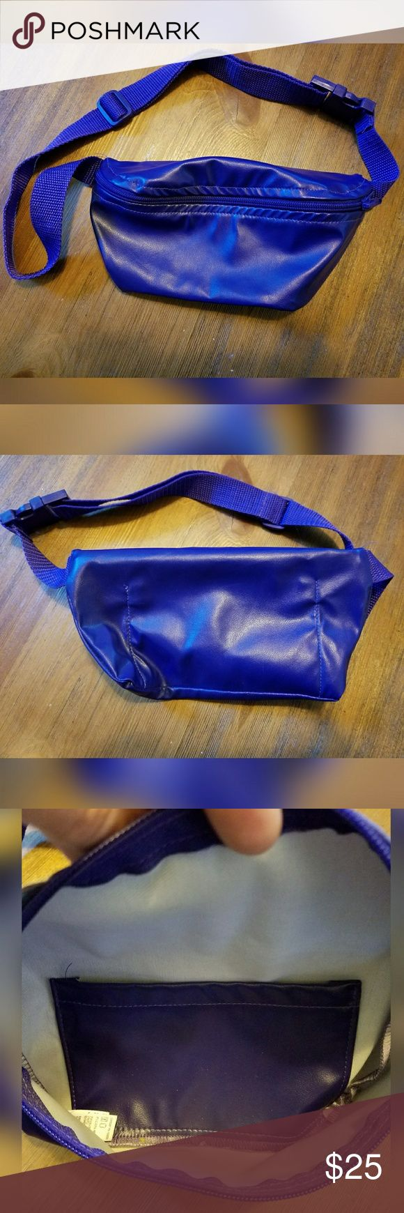 """Rad, purple, AMERICAN APPAREL, fanny pack!! Like new condition. Zipper pocket. Inside slide pocket. Adjustable waistband. 100% polyester. 8"""" wide. 4"""" tall. American Apparel Bags"""