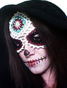 Sugar Skull Mask pattern for SALE
