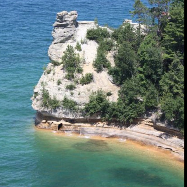 Miners castle picture rocks mi favorite places for Where to go for a honeymoon