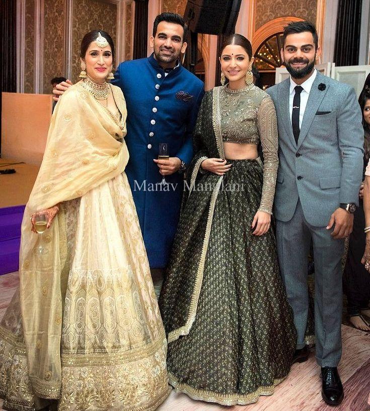 "198 Likes, 1 Comments - Manav Manglani (@manav.manglani) on Instagram: ""Newly Wed Couple Zaheer Khan and Sagarika Ghatge pose with Virat Kohli and Anushka Sharma at the…"""