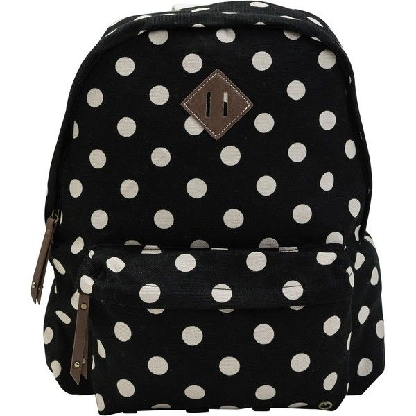 MADDEN GIRL Polka dot backpack ($54) found on Polyvore