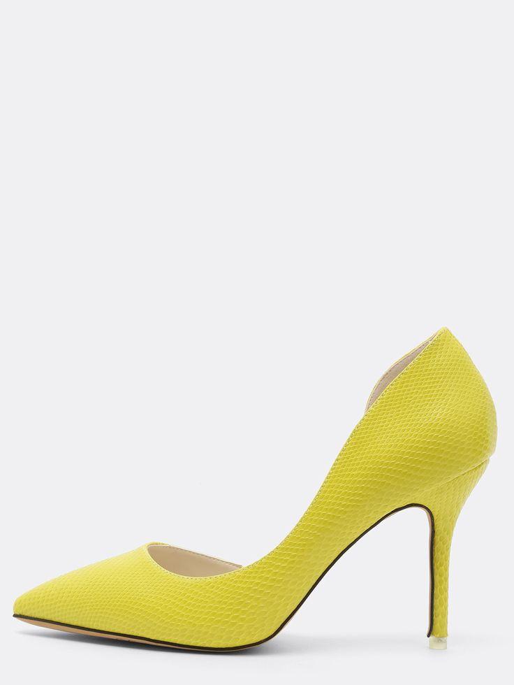 25 best ideas about escarpin jaune on pinterest talons jaunes pop chaussure et chaussures de. Black Bedroom Furniture Sets. Home Design Ideas