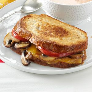 Portobello-Gouda Grilled Sandwiches Recipe - I want this for lunch today please...