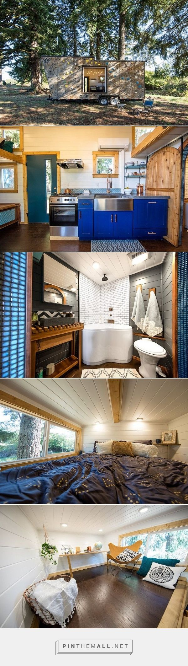 Luxury THOW tiny house on wheels with adventure outside, country charm inside