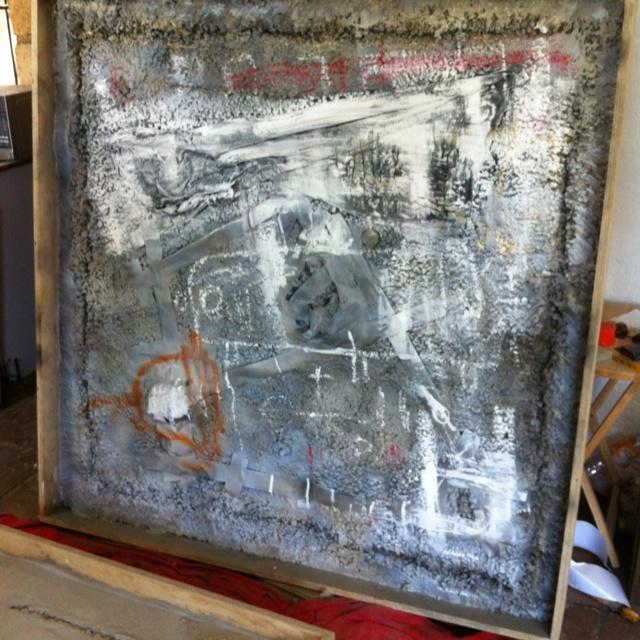 Obra en proceso hecha con cemento!