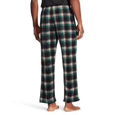 Men's Plush Sleep Pants Hunter Forest Plaid - Hotel Spa S, Black