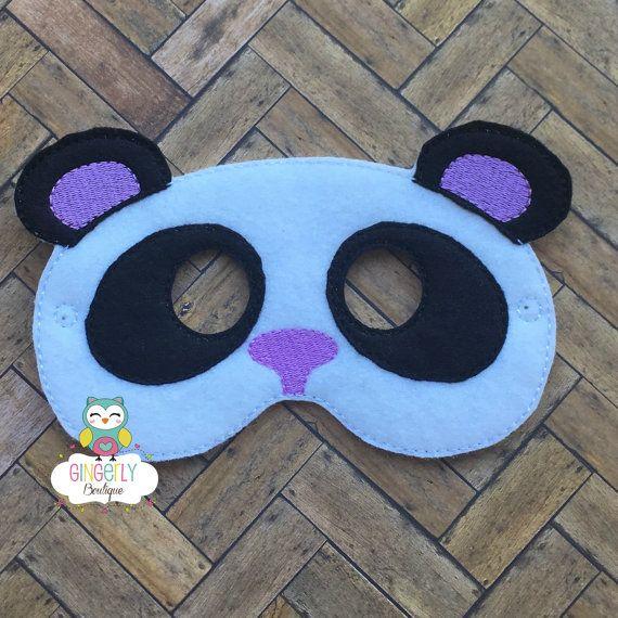 Máscara de oso panda niños vestido de máscara máscara de