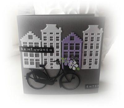 Leuk verhuiskaartje op http://judiths-creablog.blogspot.nl/ met materialen van Marianne Design.